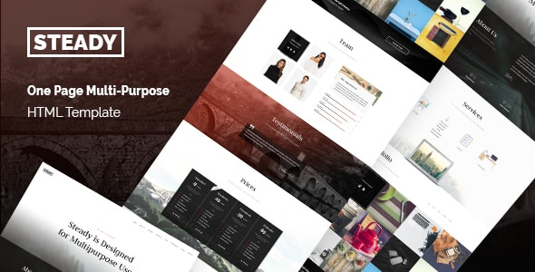 Steady - One Page Multi-Purpose HTML Template