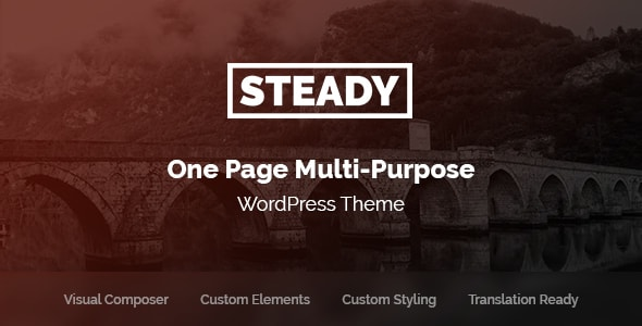Steady - One Page Multi-Purpose WordPress Theme